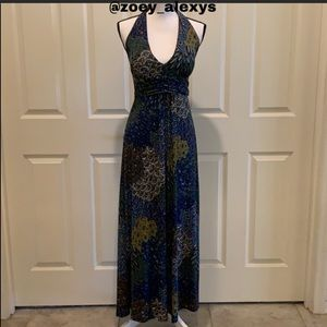 🆕 WEST LOOP Maxi Blue Long Paisley Halter Size S